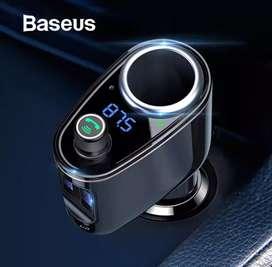 Cargador de auto USB, transmisor FM Bluetooth manos libres MP3