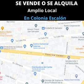Se vende o se alquila amplio local en Colonia Escalon