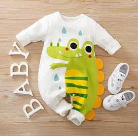 Mameluco Estampado Dinosaurio  -  Ropa Para Bebé