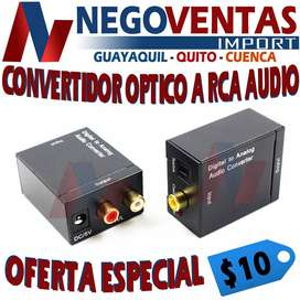 CONVERTIDOR OPTICO A RCA AUDIO