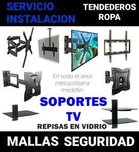 Instalamos tu tv a domicilio servicio de instalación repisas tendederos de ropa mallas de seguridad bases televisor tdt