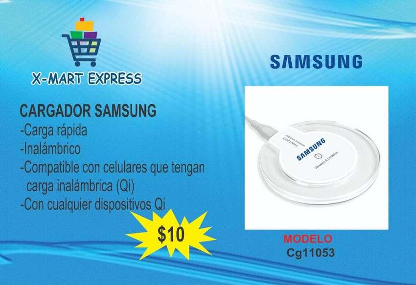 Cargador Inalámbrico Samsung Celeste