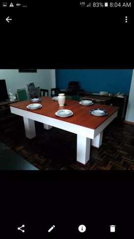 Mesa de billar y comedor