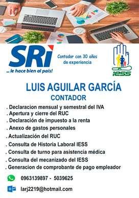 Servicio de declaracion SRI e Iess