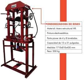 Enderezadora de rines, prensa hidraulica