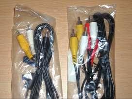 Lote de 2 Cables RCA Nuevos