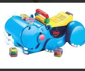 Fisher Price Andadera Hipopótamo 3 En 1 Traga Bloques