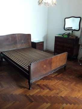 Juego Dormitorio Antiguo con Colchon Nue