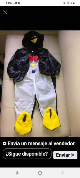 Se vende disfraz de pinguino