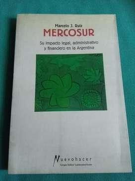Mercosur . Marcelo Ruiz . Libro Economía . AÑO 2000
