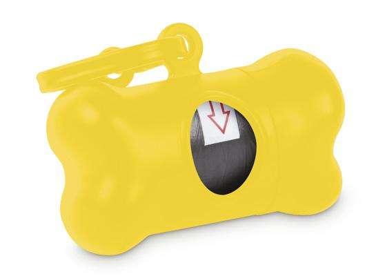 Dispensador de bolsas en forma de hueso para las heces fecales de su mascota 0