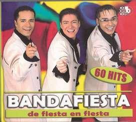 banda fiesta 60 hits de fiesta en fiesta x 2 cd
