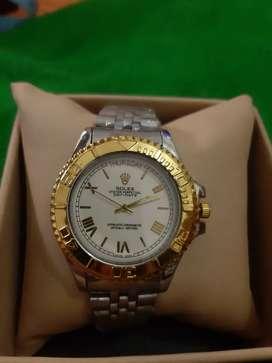 Reloj rolex gold white