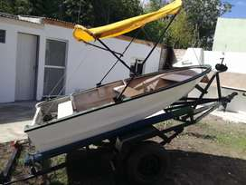 Vendo bote con trailer, buen estado.