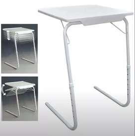 Mesa Table Mate Ajustable Multiusos Portátil Plegable Nueva Altura Graduable Auxiliar