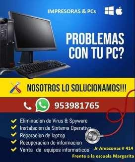 REPARACION DE COMPUTADORAS E IMPRESORAS