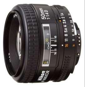 Nikon AF FX NIKKOR 50mm F/1.4D DLSR Enfoque auto Usado