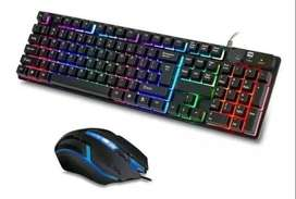 Teclado y Mouse Gamer Seisa Iluminado