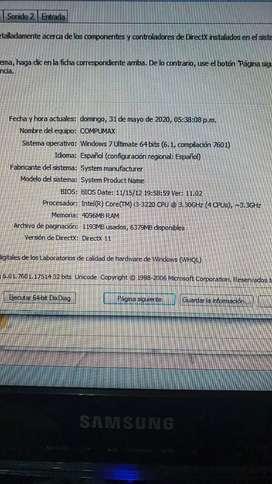 Vendo pc de mesa compumax core i3 800gb de disco duro, 4gb de memoria ram pantalla de 19 pulgadas con teclado y mouse