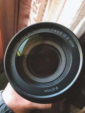 Lente Canon 70 300 f4-5.6 IS II