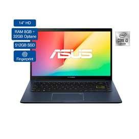 Portatil Asus Core I3 10gen 8gb+32gboptane 512gb Ssd W10