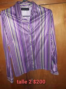 Vendo camisa mujer t 2 violeta