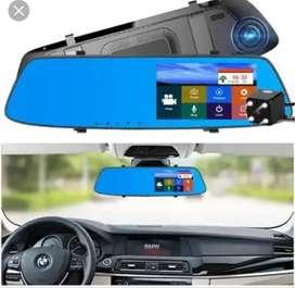 Espejo retrovisor con camara frontal dvr y camara de retro infrarroja