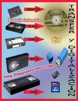 Las Cintas o Peliculas de Vhs, Minidv y otras Las pasamos a DVD USB