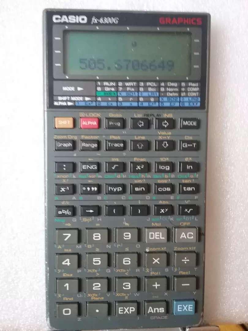 Calculadora casio  fx 6300 graficadora cientifica programable 0