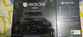 Consola xbox one con 1 control y kinect aparte otro control y varios juegos