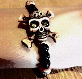 Vendo pulsera estilo hawaiano detallados muy realistas calavera en 3 dimenciones