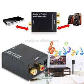 conversor convertidor audio óptica a RCA alógico L/R