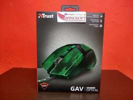 Mouse Gamer Trust Gav Camuflado para Pc. botones extra configurables con cada juego
