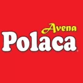 Se solicita Personal para vender avena polaca en coches