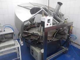 Maquina industrial para procesar obleas, galleta cono y barquillos 1000 unidades por hora