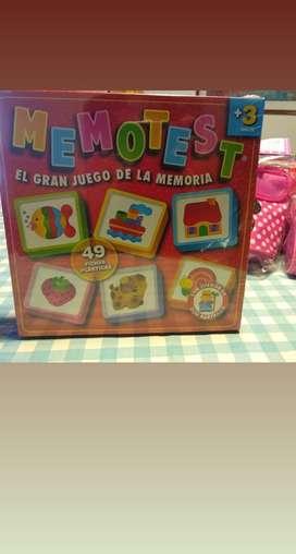 Juegos de Mesa Memotest, primeras palabras y números de la Ruibal