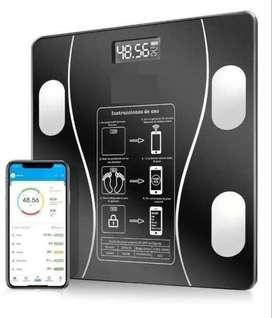 Báscula de Peso Digital Cuadrada Bluetooth