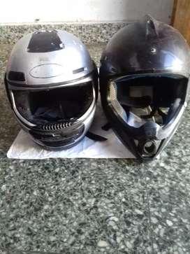 vendo 2 cascos de motos buenos