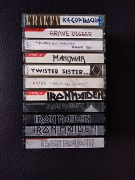 Lote Cassettes Heavy Metal