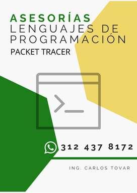 Asesorías académicas en programación y desarrollo de guías, talleres, laboratorios en Cisco Packet Tracer.