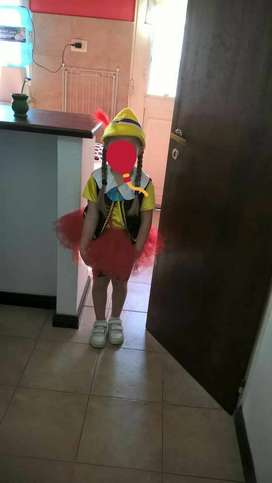 Disfraz de pinocho para nena