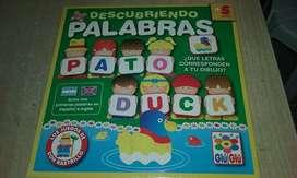 Juego Didactico en Español E Ingles