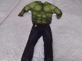 Disfraz de hulk para niño 4-5 años