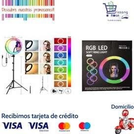 Aro de Luz Led 26cm, 7 colores y 9 Combinaciones de Iluminación