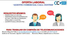 CALL CENTER VENTAS Y BILINGUE