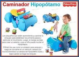 Caminador Andador 2 En 1 Hipopótamo Fisher Price