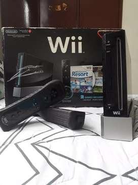 Nintendo Wii negro Económico, 2 controles en perfecto estado