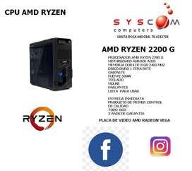 cpu amd ryzen 2200 g hasta agotar stock 3 años de garantia