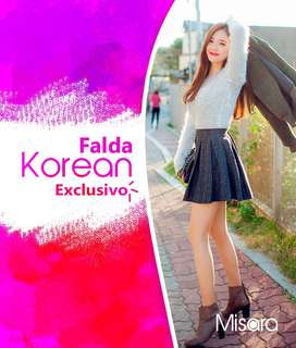 Falda korean  EXCLUSIVO