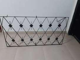 Reja de hierro color negro